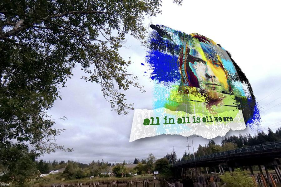 Mural de realidade aumentada de Kurt Cobain