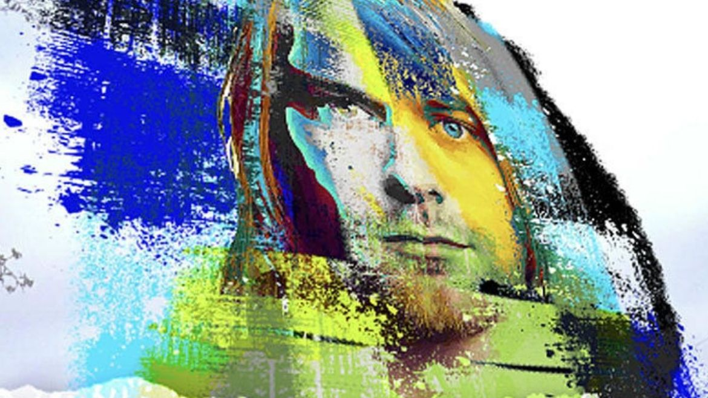 Kurt Cobain em mural de realidade aumentada