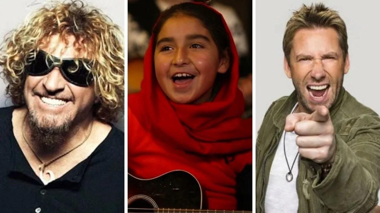 Sammy Hagar, crianças afegãs e Chad Kroeger