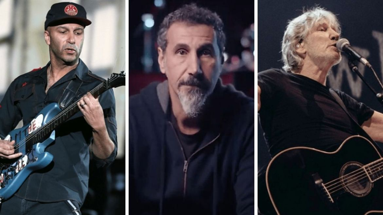 Tom Morello, Serj Tankian e Roger Waters