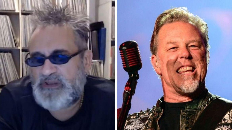 Regis Tadeu e James Hetfield do Metallica