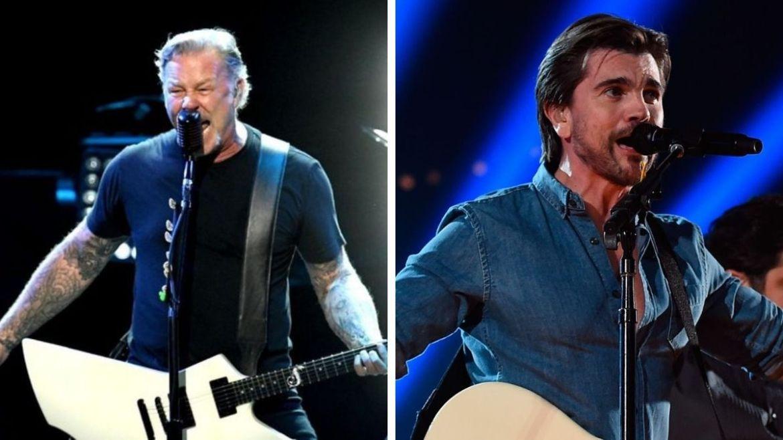 James Hetfield, do Metallica, e Juanes