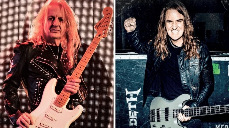 K.K. Downing, do KK's Priest, e David Ellefson, ex-Megadeth