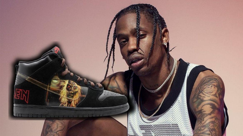 Travis Scott em campanha para Nike