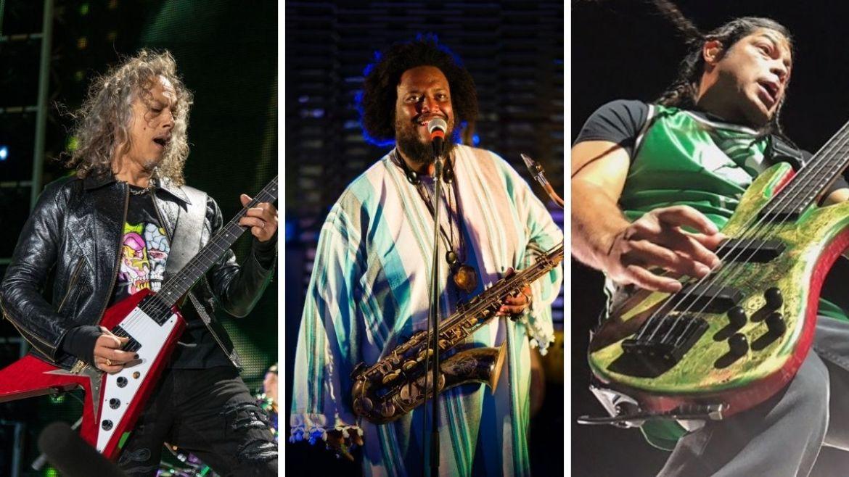 Kirk Hammet, Kamasi Washington e Robert Trujillo