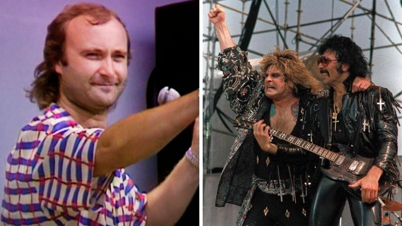 Phil Collins e Black Sabbath no 'Live Aid' de 1985