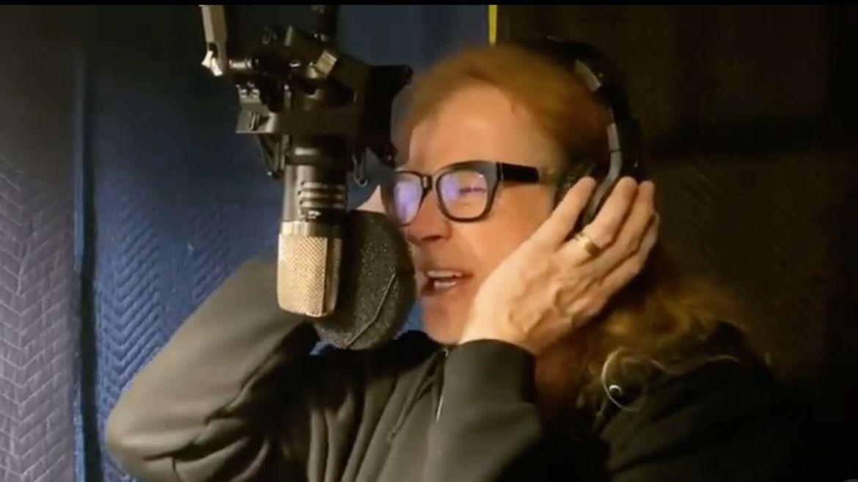 Dave Mustaine gravando novo álbum do Megadeth