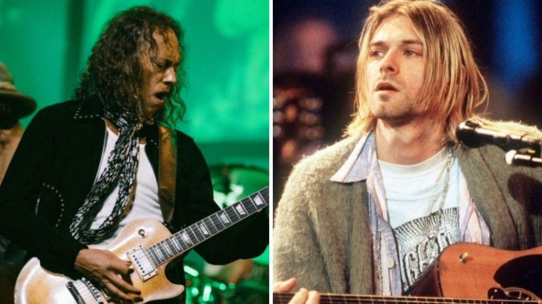 Kirk Hammett e Kurt Cobain