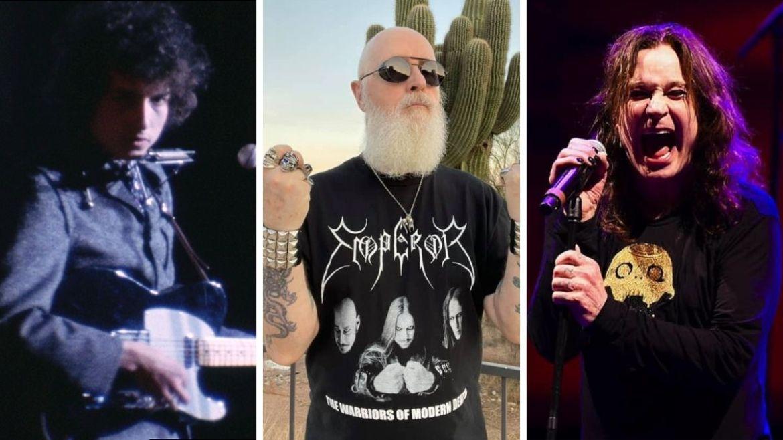 Bob Dylan, Rob Halford e Ozzy Osbourne
