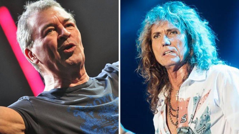 Ian Gillan, do Deep Purple, e David Coverdale, do Whitesnake