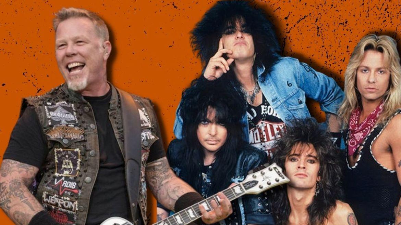 James Hetfield, do Metallica, e Mötley Crüe