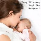 Larangan Ibu Menyusui