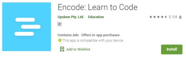 Encode Learn to Code