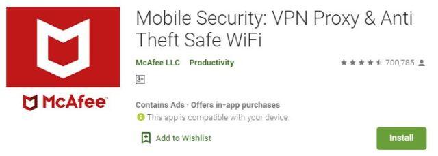 Mobile Security VPN Proxy & Anti Theft Safe WiFi