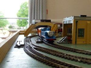 Model Train Running @ Wilbrahams' Memorial Hall