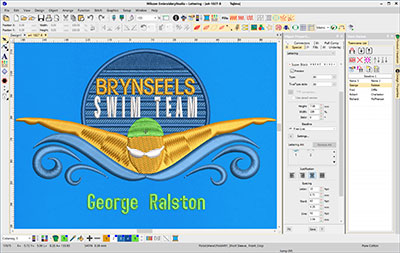 Wilcom EmbroideryStudio e4 Lettering. Embroidery software