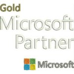 Gold Microsoft Partner embroidery design