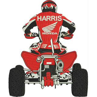 Harris Honda embroidery design