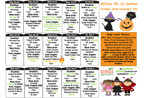 October 22 - November 9 Menu featured image