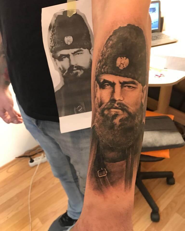 Ljubica Wild Spirit Hamen Porträt Realistik Tattoo