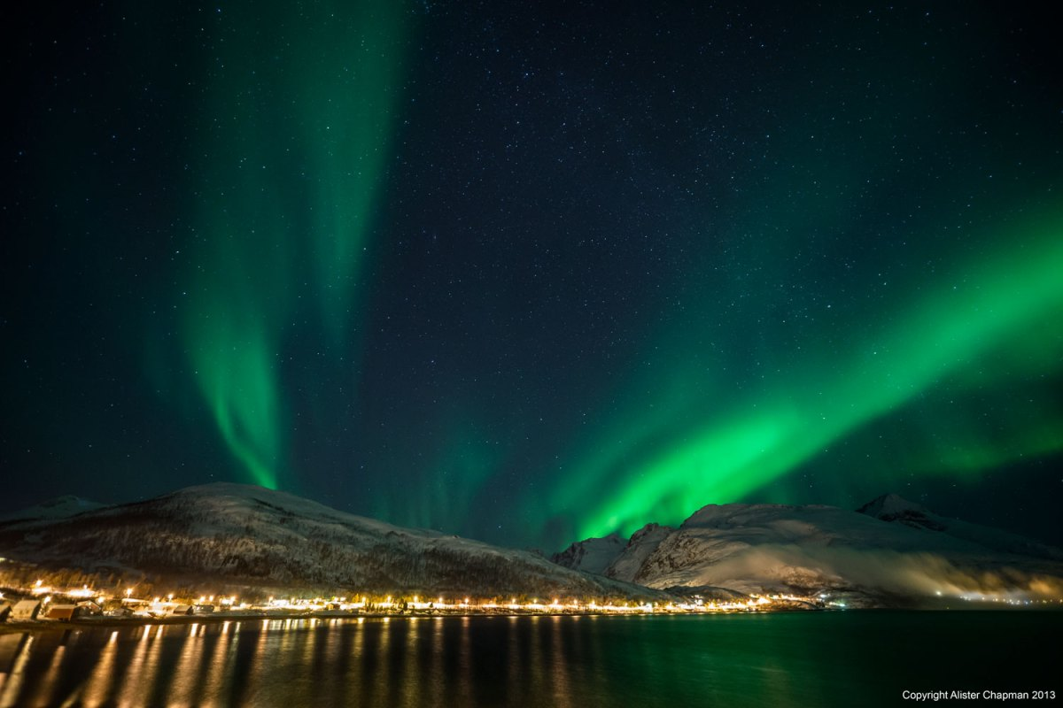 The Aurora over Tromso. Tour 1, 2013.