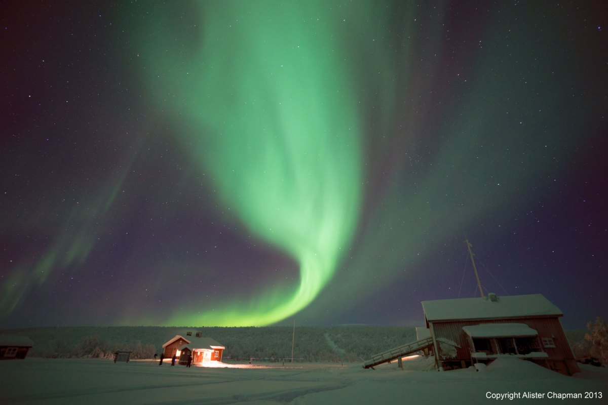Aurora over the cabins. Feb 2013.