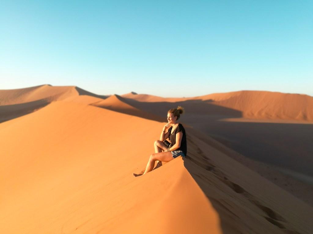 Auf den Dünen in Namibia
