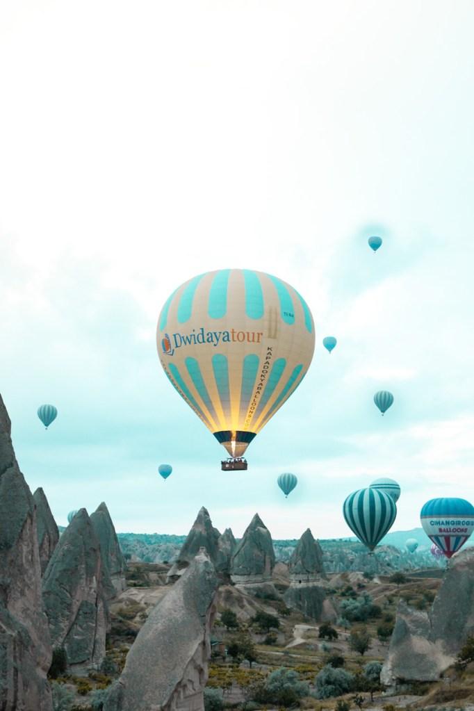 Foto von Heissluftballonen in Kappadokien