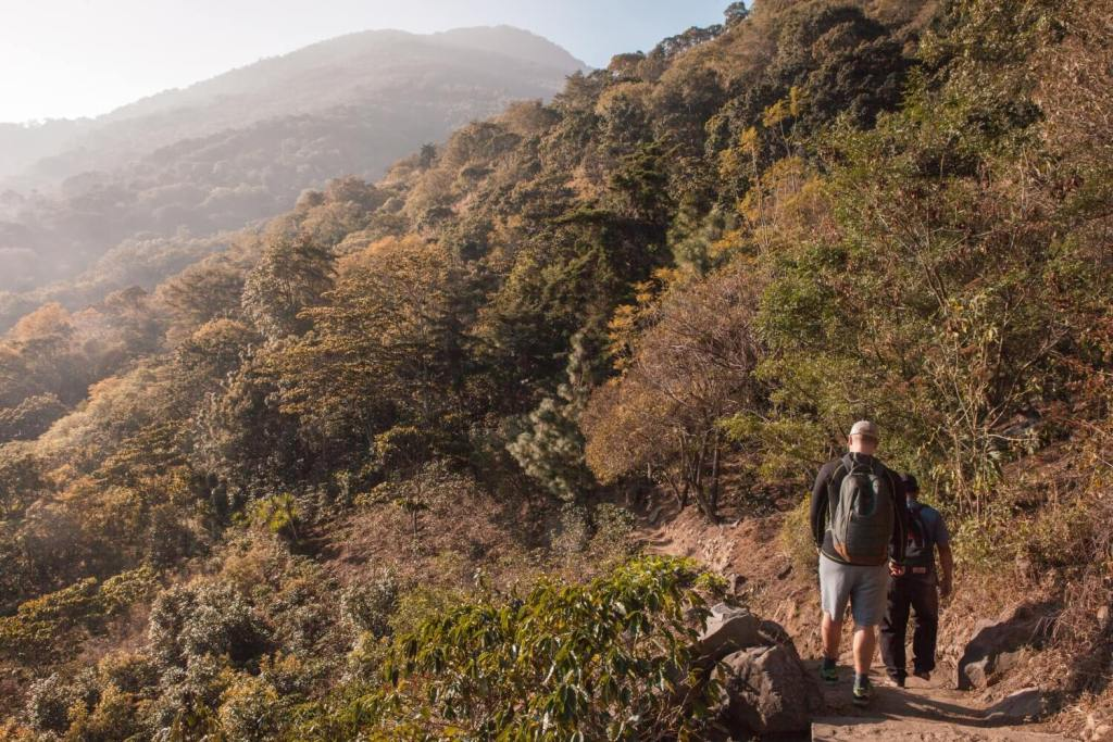 Beginn Wanderung Vulkan San Pedro