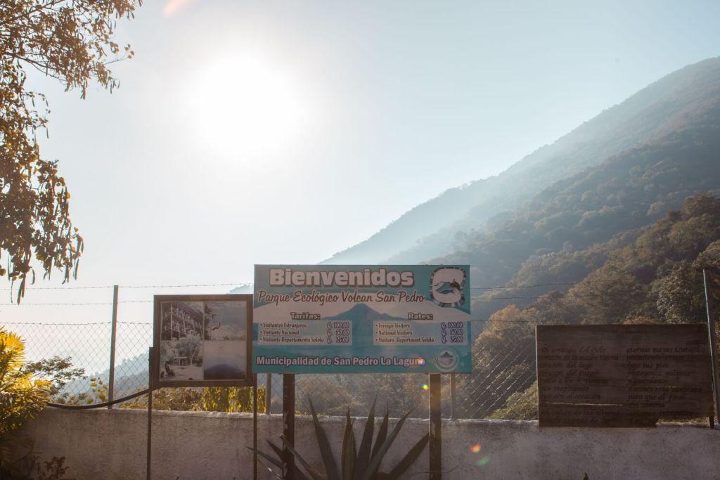 Eingang Vulkan San Pedro