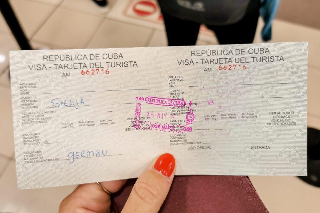 Kuba Touristenkarte