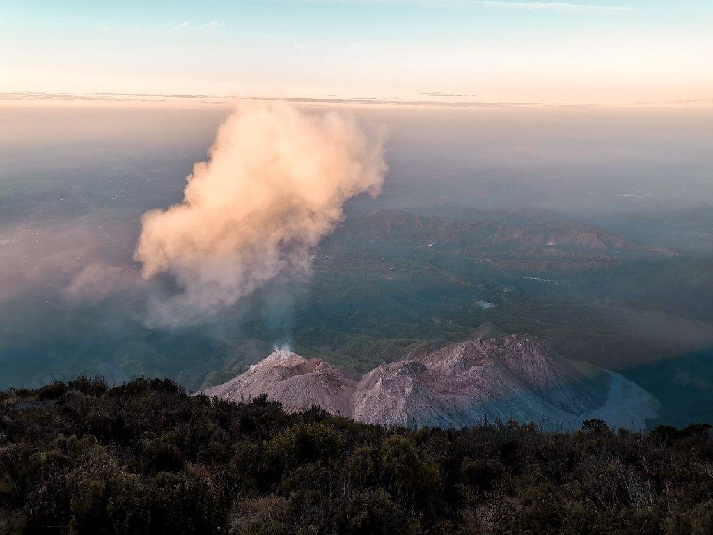 Vulkan Kraterblick