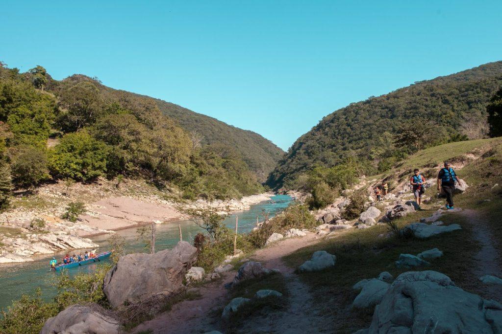 Wasserfall Cascada de Tamul Landschaft