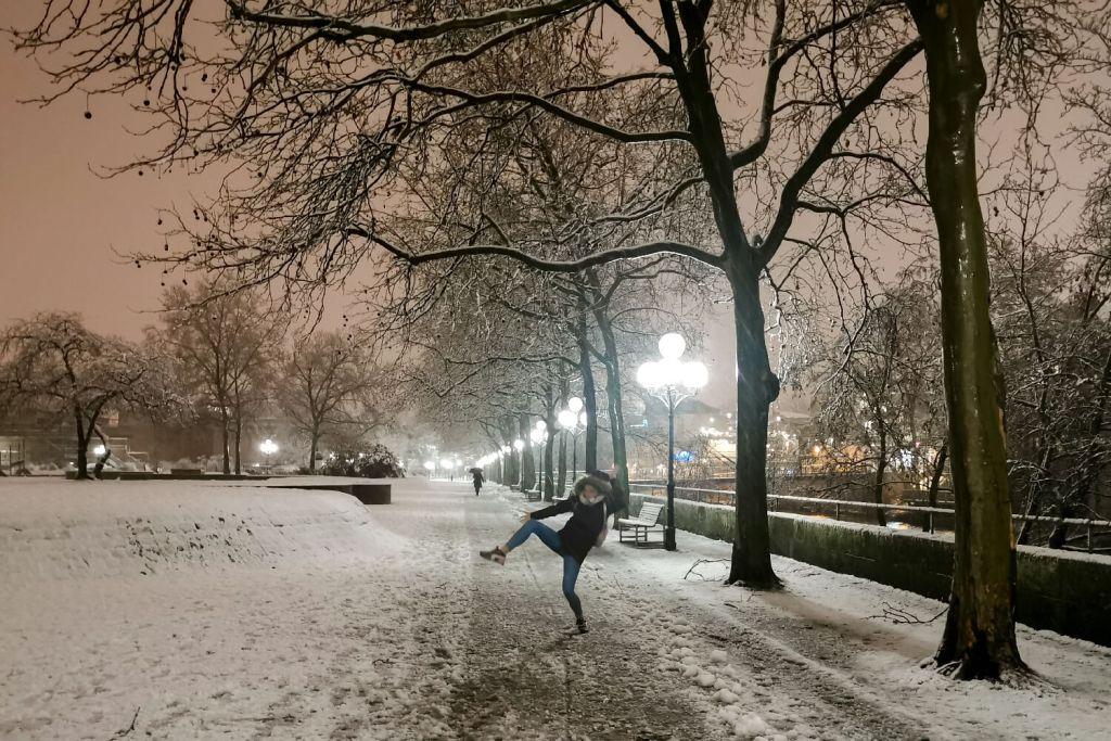 Heimaturlaub Schnee Auswandern