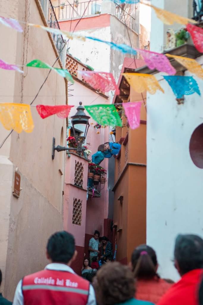 Guanajuato in Mexiko Kussgasse