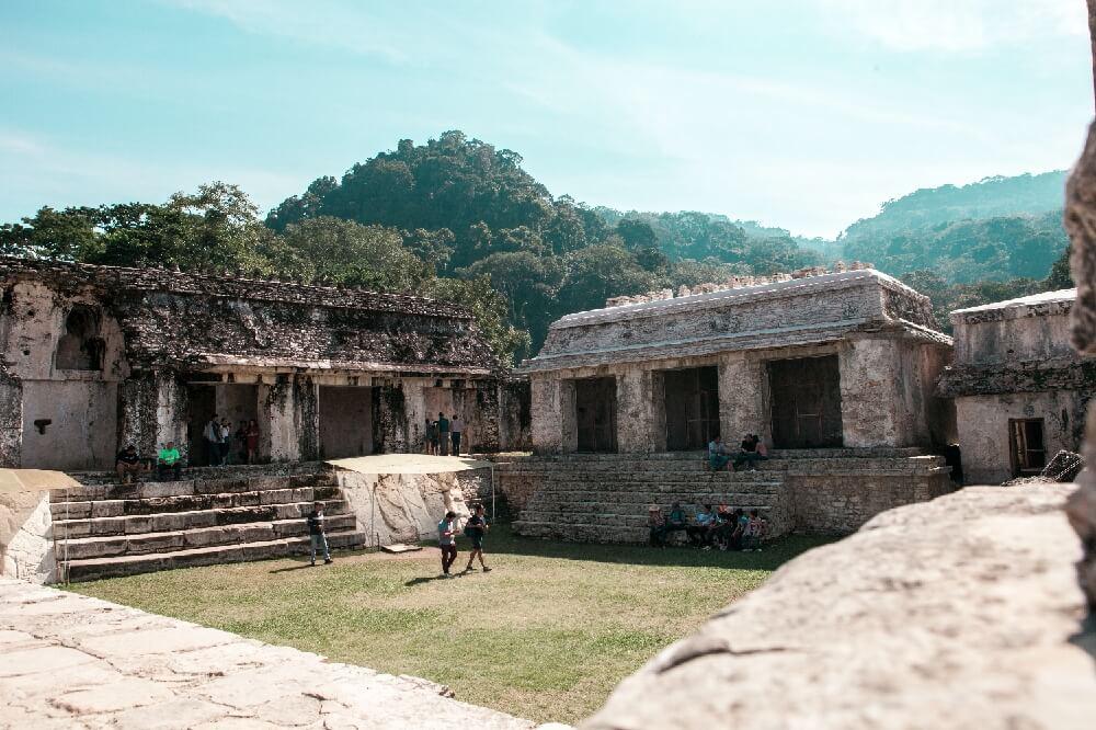 Palacio in Palenque in Mexiko