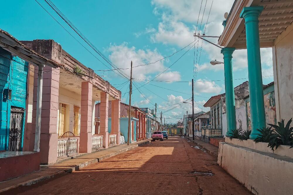 Straße von Baracoa in Kuba