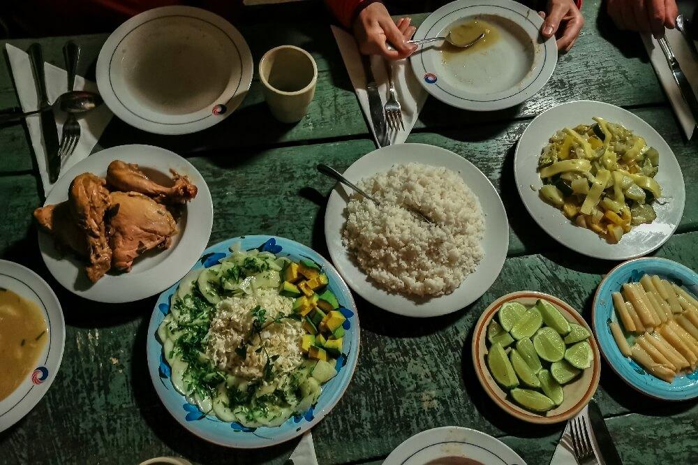 Gemeinschaftsraum Abendessen