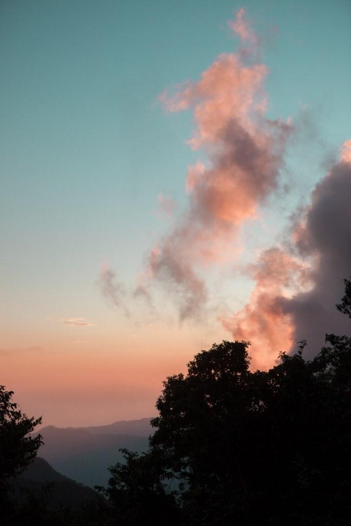 Sonnenuntergang Sierra Maestra