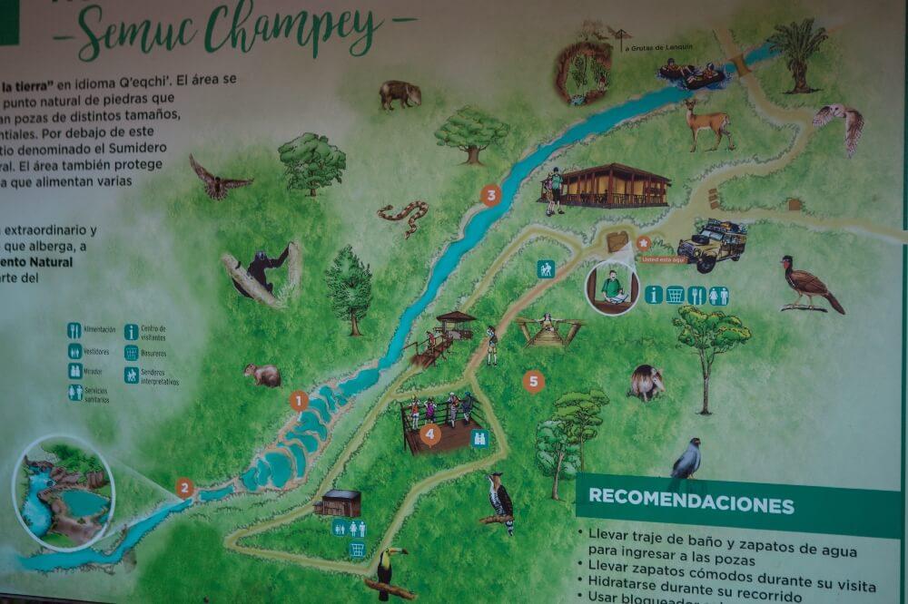 Übersichtskarte Semuc Champey