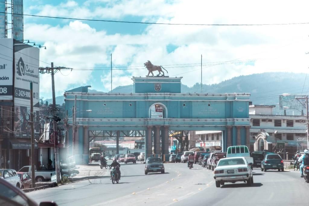 Quetzaltenango in Guatemala Eingangstor