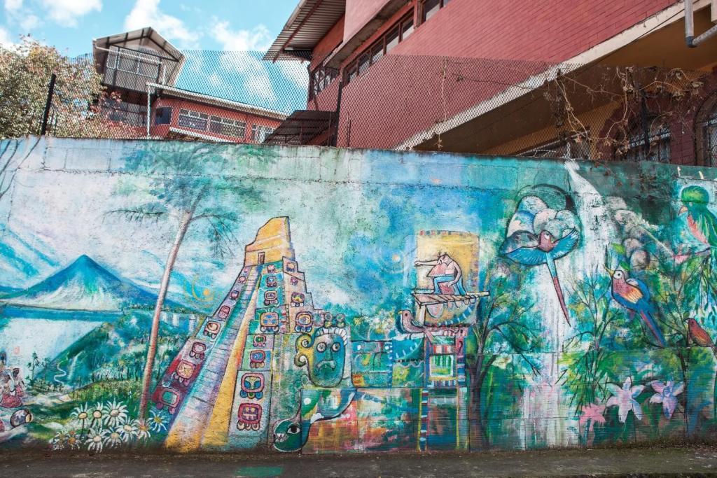 Quetzaltenango in Guatemala Wandbemalung