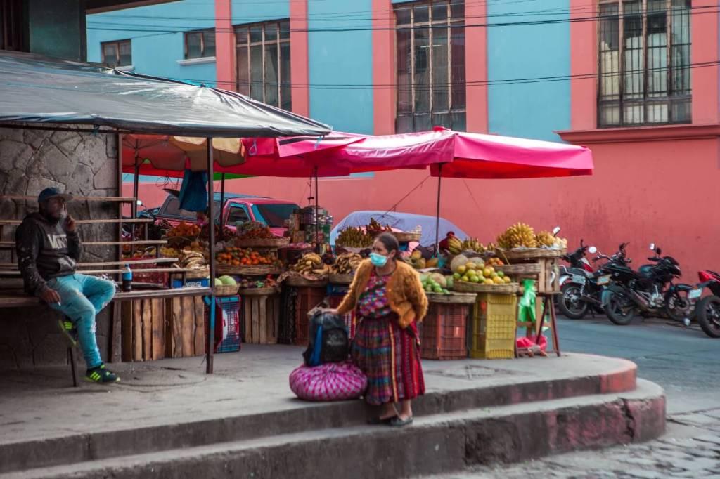 Markt in Quetzaltenango in Guatemala