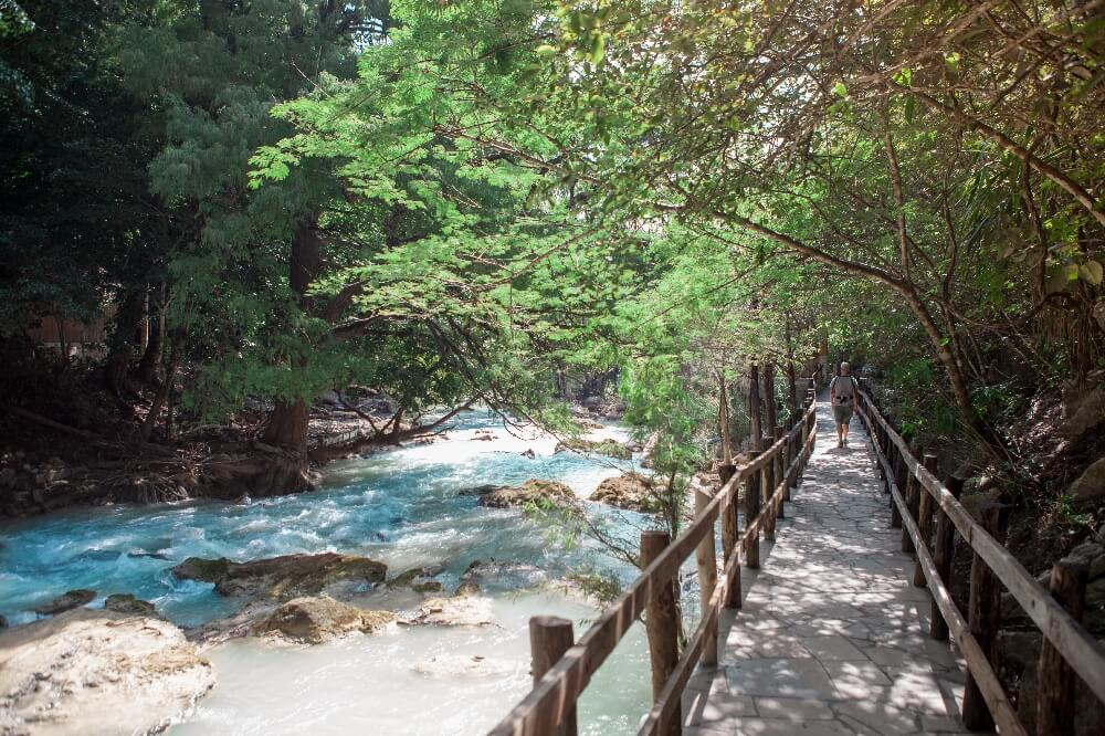 Cascada El Chiflon Wanderweg