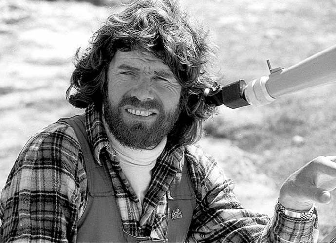 Reinhold Messner in 1985 in Pamir Mountains.