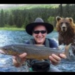 Funny animals fishing in Alaska