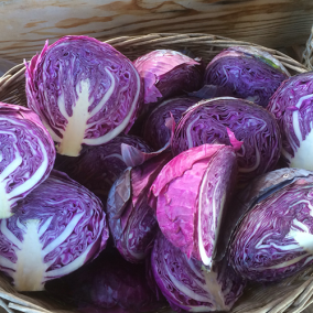 Sliced Purple Cabbage