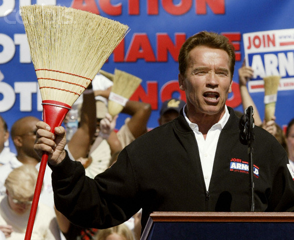 Image result for arnold schwarzenegger broom