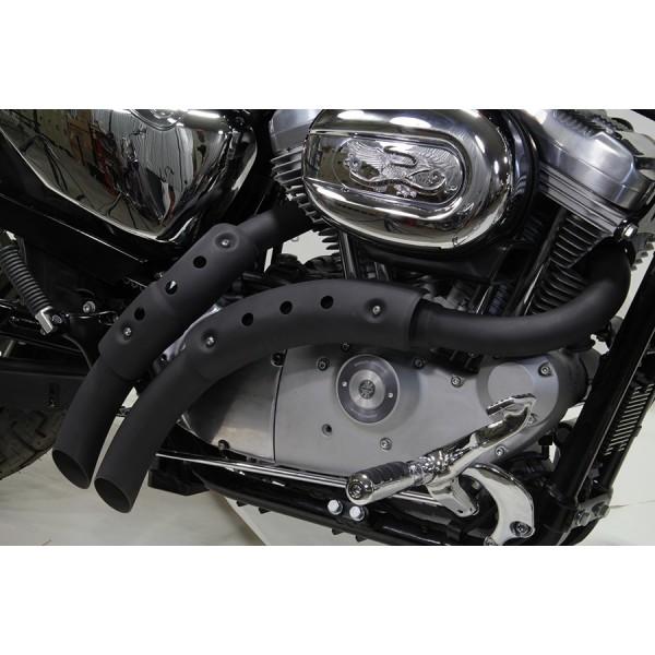 exhaust radius magnum large black matte for harley davidson xl sportster 04 19
