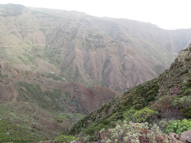 Chipude - La Fortaleza - La Gomera - barranco de erque